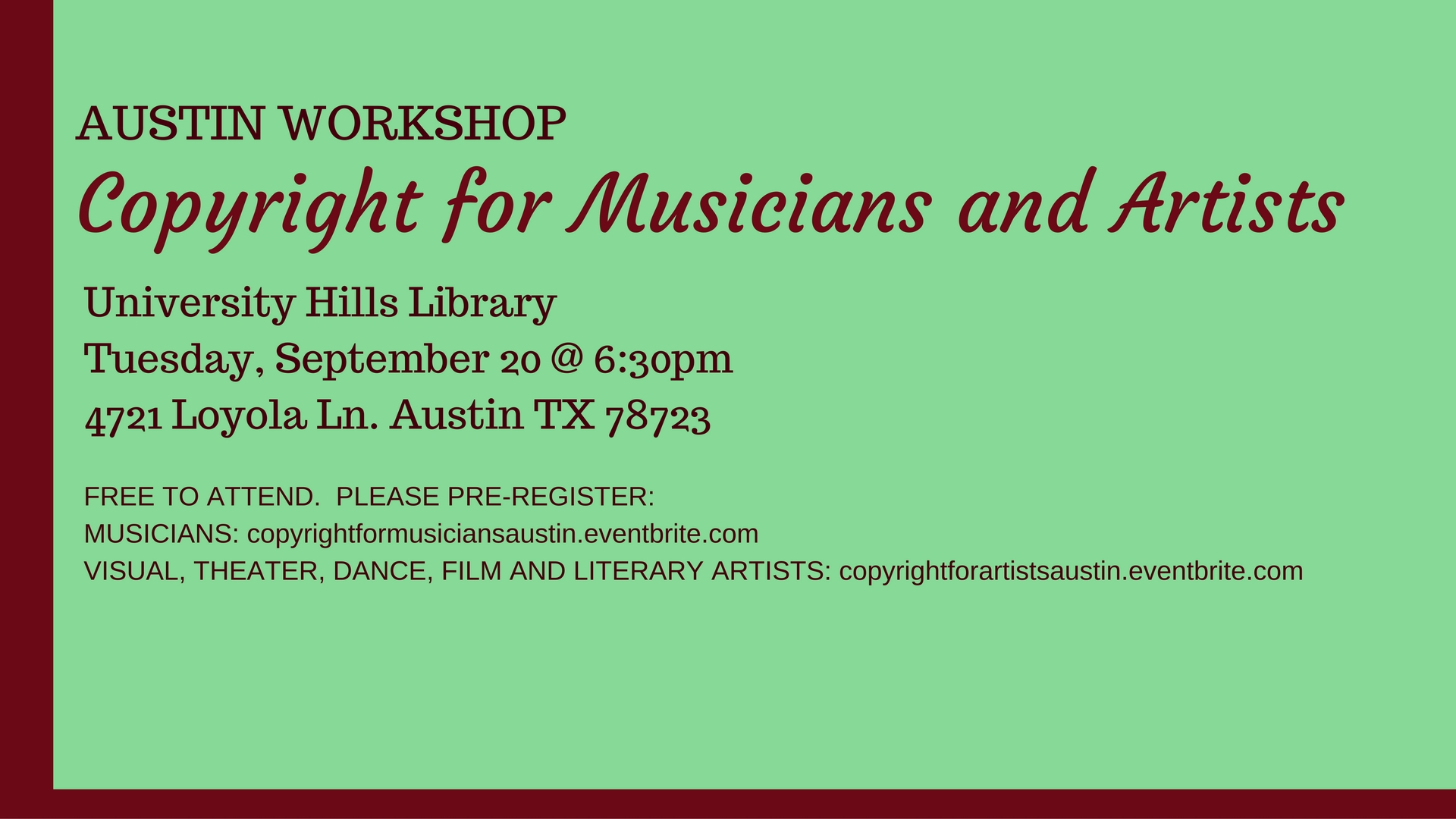 Copyright for Artists and Musicians (1)