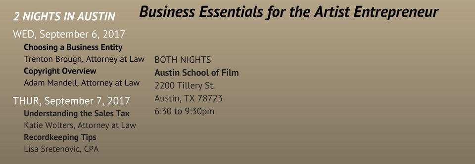 Business Essentials for the Artist Entrepreneur-Two Night Series in Austin