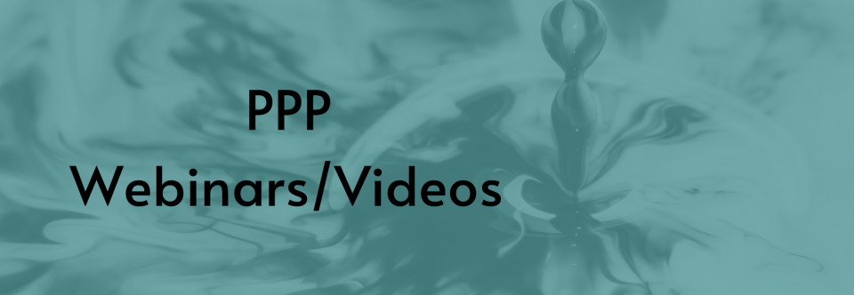 PPP Webinars/Videos